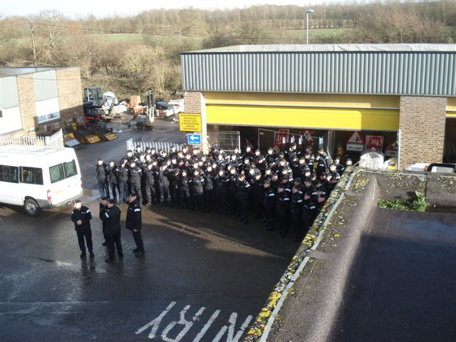Joined by Armed Forces at Chieveley Depot